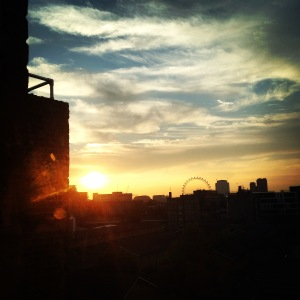 the view outside my flat at sunset! this pretty much describes how beautiful this city has turned out to be.