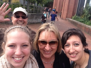 A group selfie with me, Evelin (my German coordinator), Emma, and Evelin's husband Chris.
