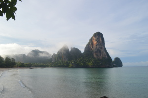 woke up early to watch the sunrise over Railay Beach in Krabi!
