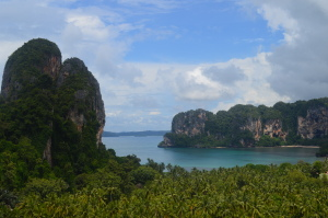 an exhausting hike/climb, but this view from the Railay Beach Viewpoint made it all worth it!