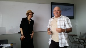 Sr. Juan Jose and Leah while Leah gives her presentation. Fun times in class!