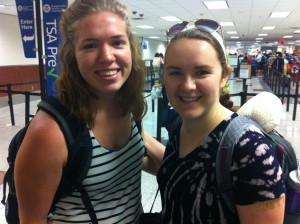 Amelia Neumeister and myself at the Atlanta International Airport.