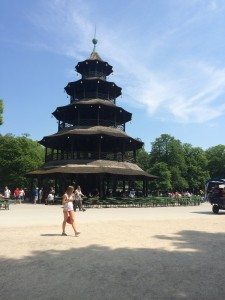 The turm (tower) at the Chinesische Wirtschaft.