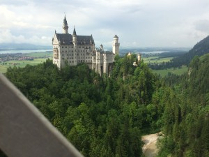 A view of the Neuschwanstein Castle from Mary's Bridge.