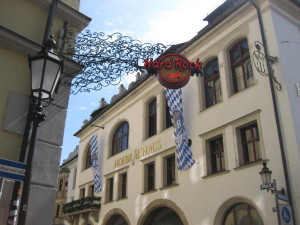 Why go to the Hard Rock Cafe, when the Hofbraühaus is mere meters away?