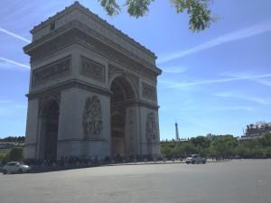 Arc de Triomphe and Tour Eiffel