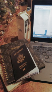 -my brand new passport, with brand new VISA -my planer AKA the only thing keeping me organized -favorite blog by a current student studying abroad