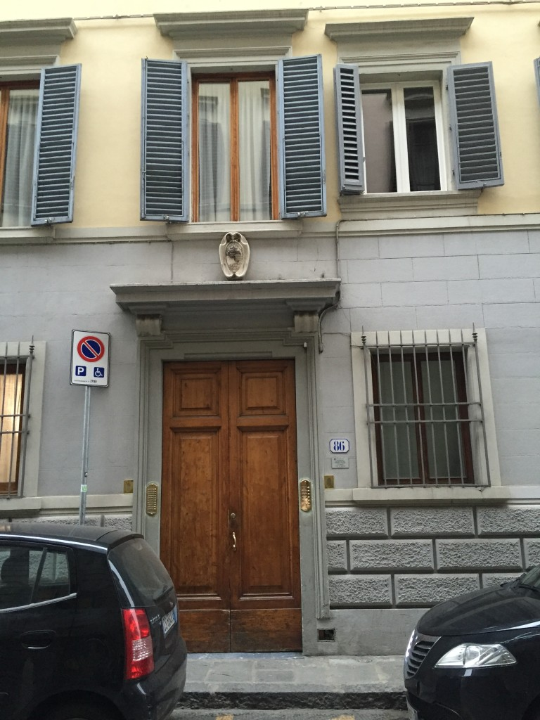 My apartment building on Borgo Pinti.
