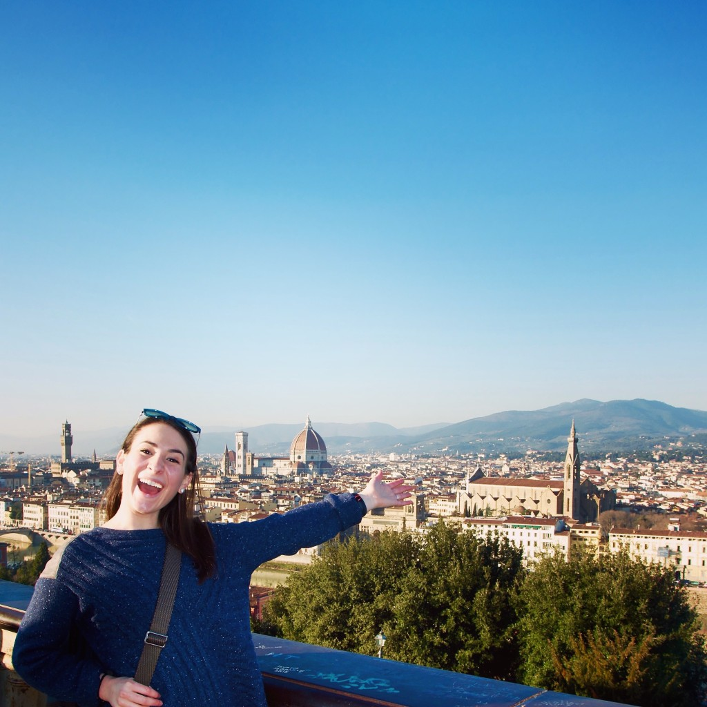 At the top of the Piazzale Michelangelo.