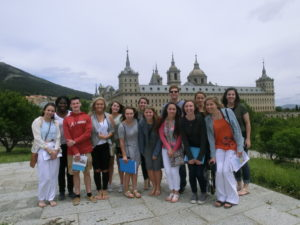 standing in front of the monastery