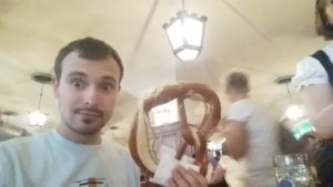 Giant pretzel at Hofbrauhaus